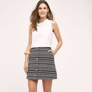 Anthropologie Maeve Print Button Skirt